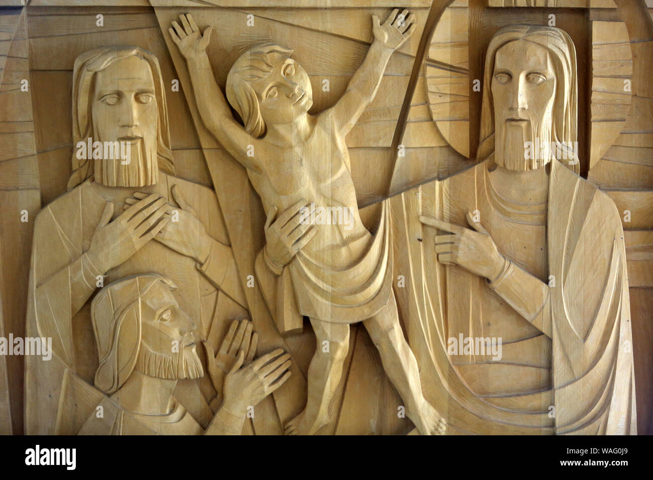 Jesus Christ. Saint Peter's Basilica in Capernaum. Isräel. Stock Photo