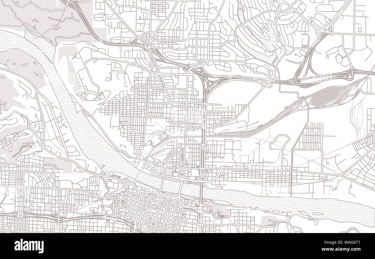 North Little Rock, Arkansas, USA, bright outlined vector map ...