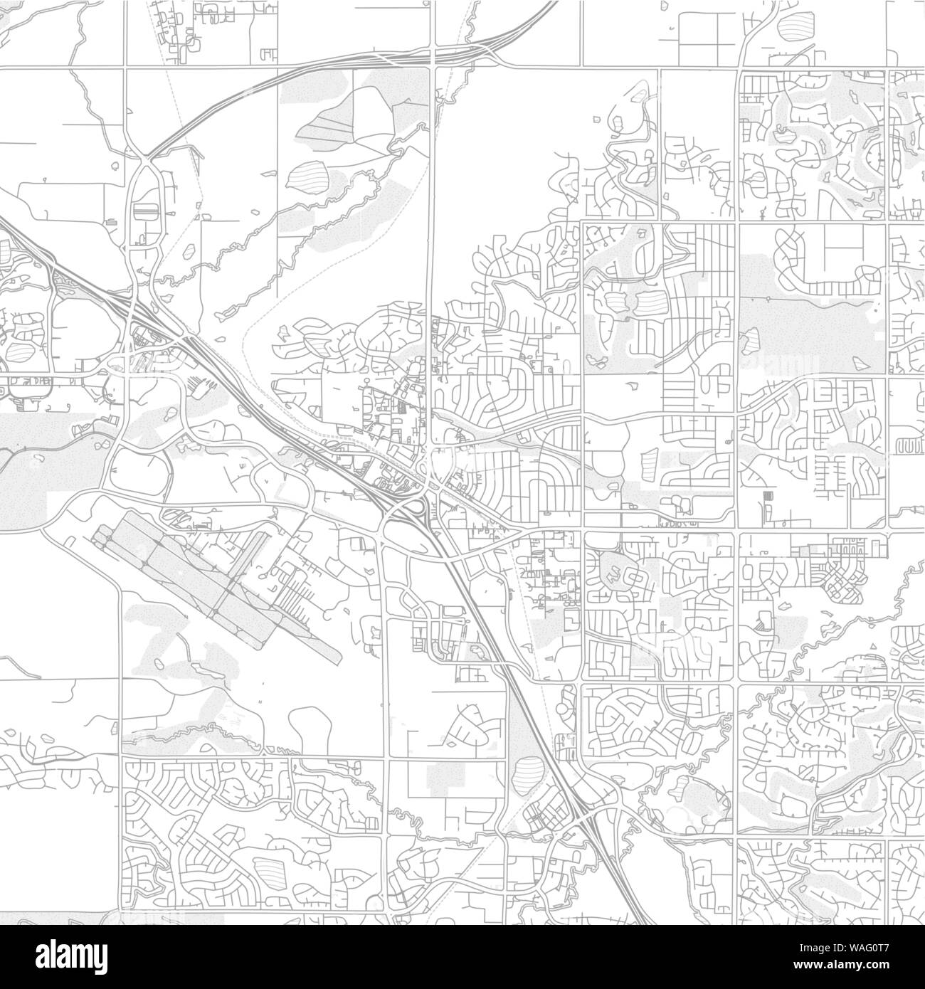 Broomfield, Colorado, USA, bright outlined vector map with ...