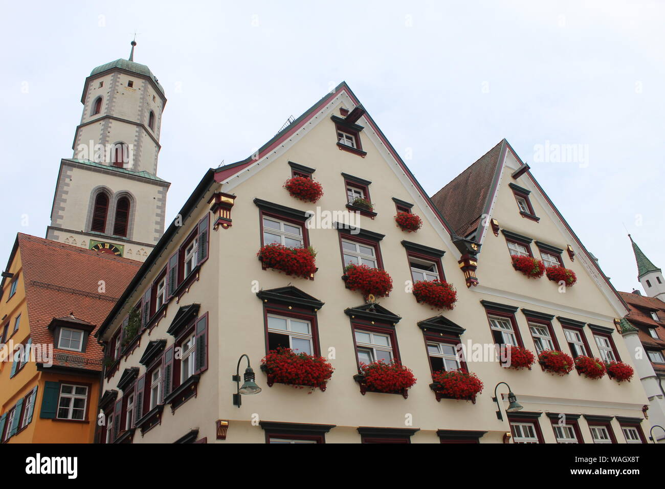 Architecture in Biberach, Germany Stock Photo