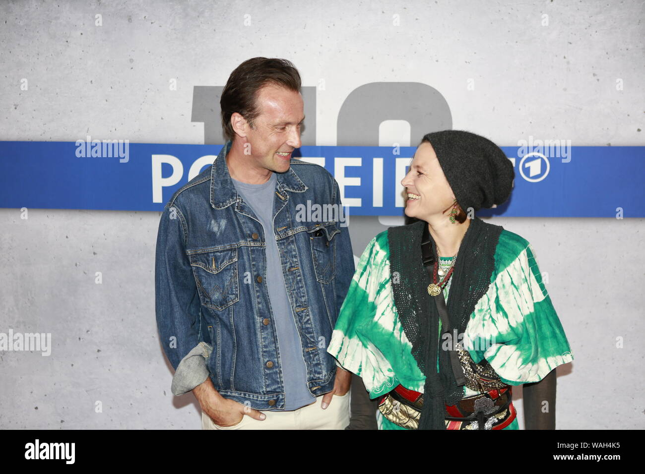 08/20/2019, Berlin, Germany. Maria Simon and Lucas Gregorowicz at the Preview of the new rbb police call 110: Heimatliebe on Kurfürstendamm in Berlin-Charlottenburg. Stock Photo