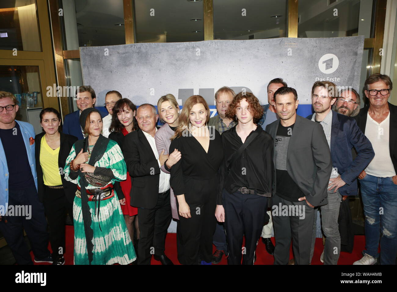 08/20/2019, Berlin, Germany.the Filmcrew at the Preview of the new rbb police call 110: Heimatliebe on Kurfürstendamm in Berlin-Charlottenburg. Stock Photo