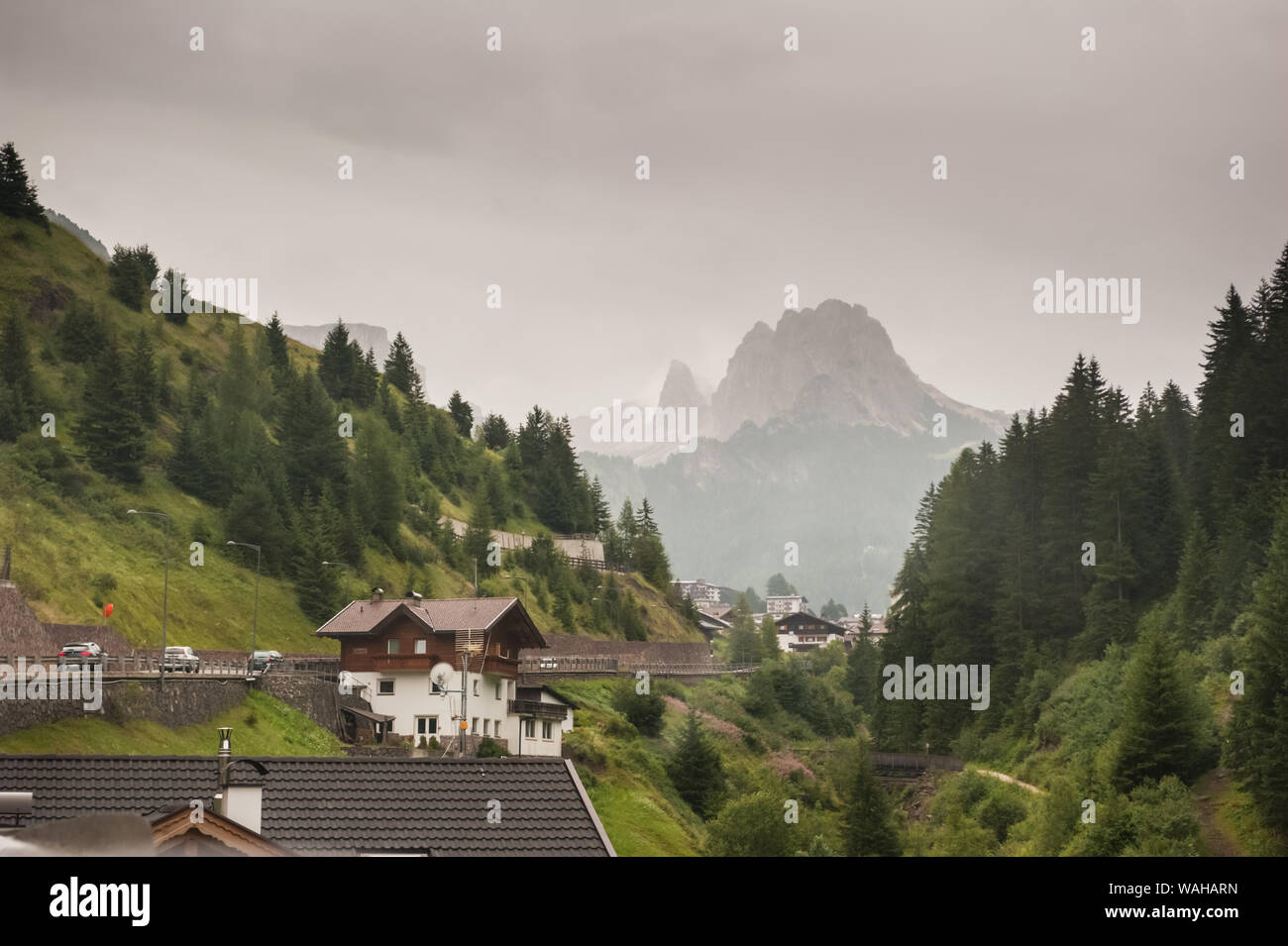 The Sella and the Pordoi Passes in South Tyrol, Italy Stock Photo