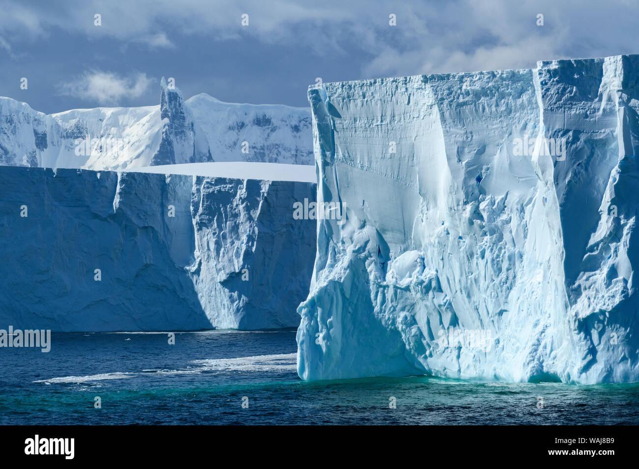 Antarctica, Antarctic Peninsula. Tabular iceberg. Stock Photo