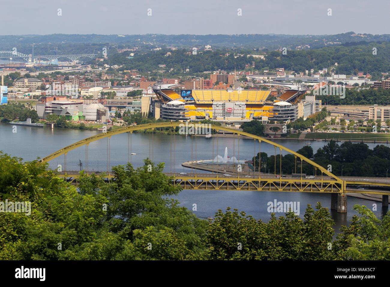 Fort Pitt Bridge, Pittsburgh, Pennsylvania, USA Stock Photo