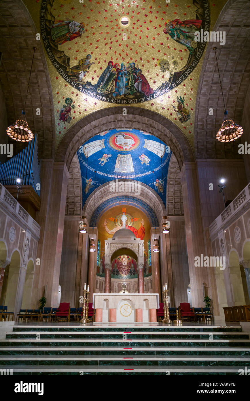 USA, Washington D.C. Basilica of the National Shrine of the Immaculate Conception interior Stock Photo