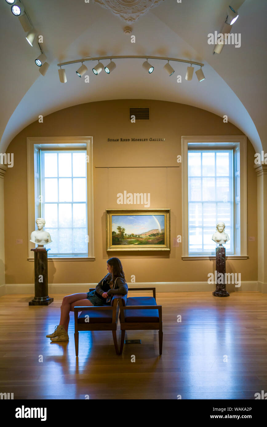 USA, Washington D.C. Reynolds Center American Art Museum, Susan Reed Moseley Gallery (Editorial Use Only) Stock Photo