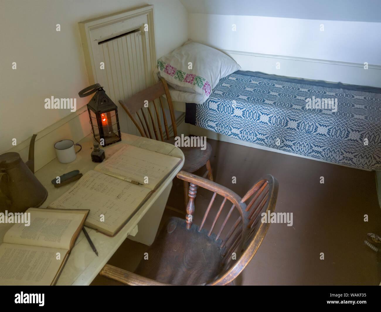 USA, Oregon, Newport  Lighthouse keeper's quarters inside