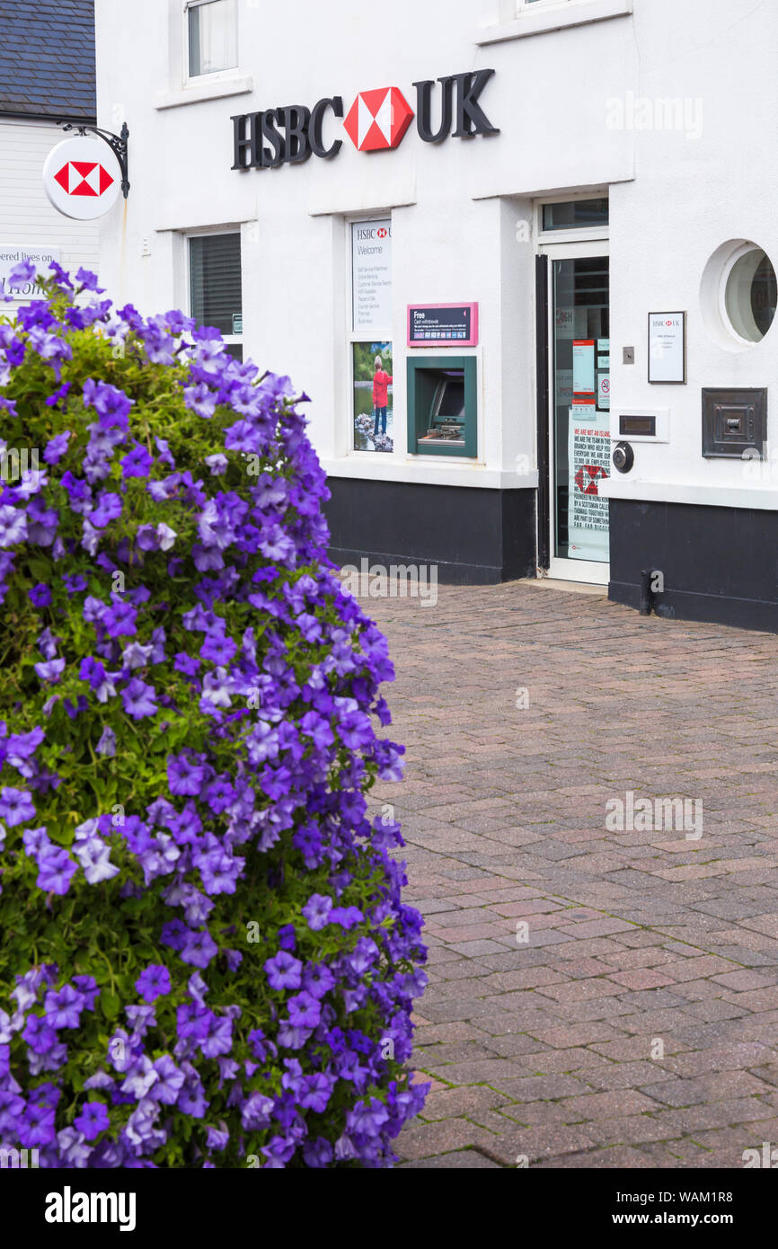 HSBC UK bank at Hythe, Hampshire UK in August Stock Photo
