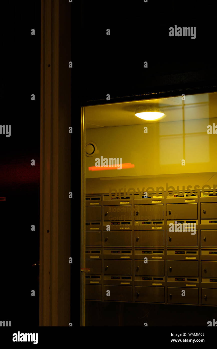 Apartment Building Mailboxes Stock Photos & Apartment