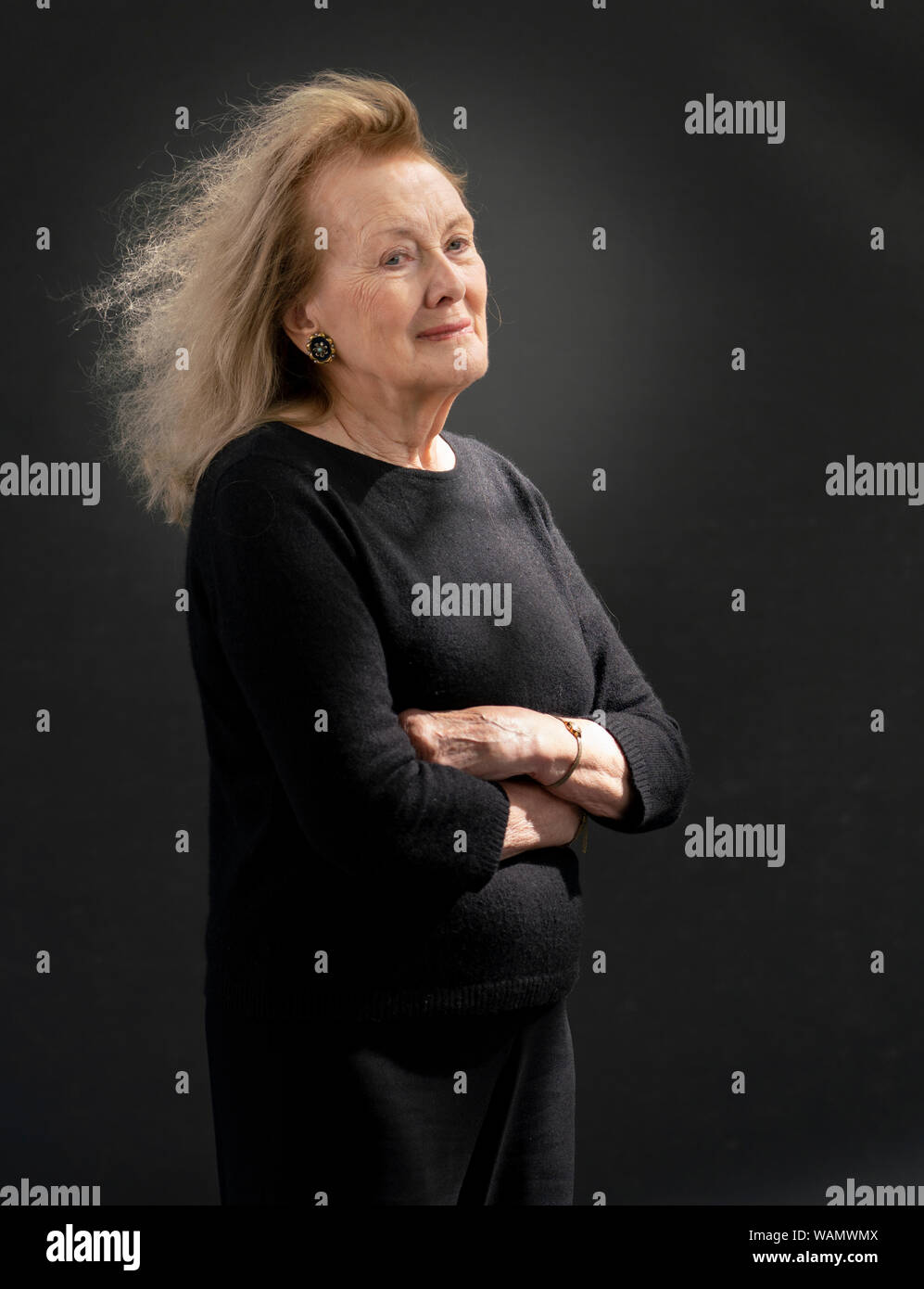 Edinburgh, Scotland, UK. 21 August 2019. Annie Ernaux  at Edinburgh International Book Festival 2019. Annie Ernaux's novel The Years is a collective memoir of post-war France from a lower middle-class perspective. Iain Masterton/Alamy Live News. Stock Photo