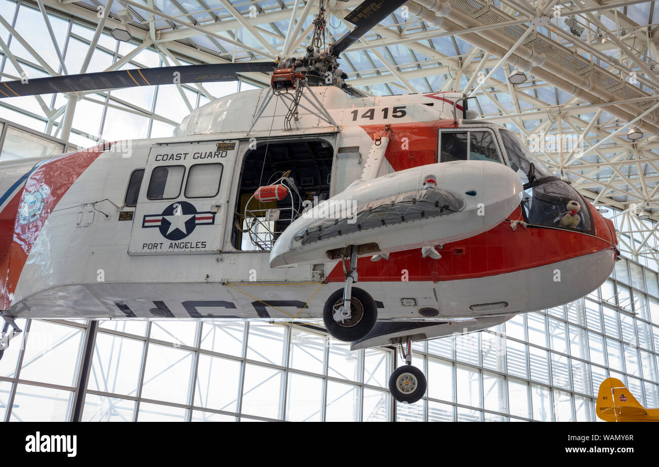 Sikorsky HH-52 Seaguard, Boeing Museum of Flight, Boeing Field, Tukwila, Washington State, USA Stock Photo