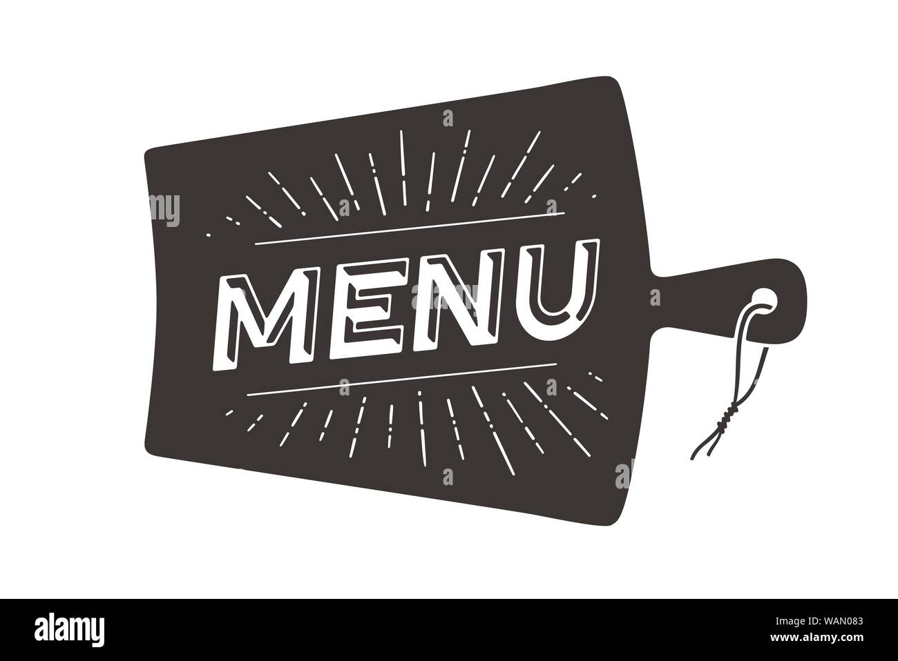 Menu Cutting Board Wall Decor Poster Sign Quote Stock Vector Image Art Alamy