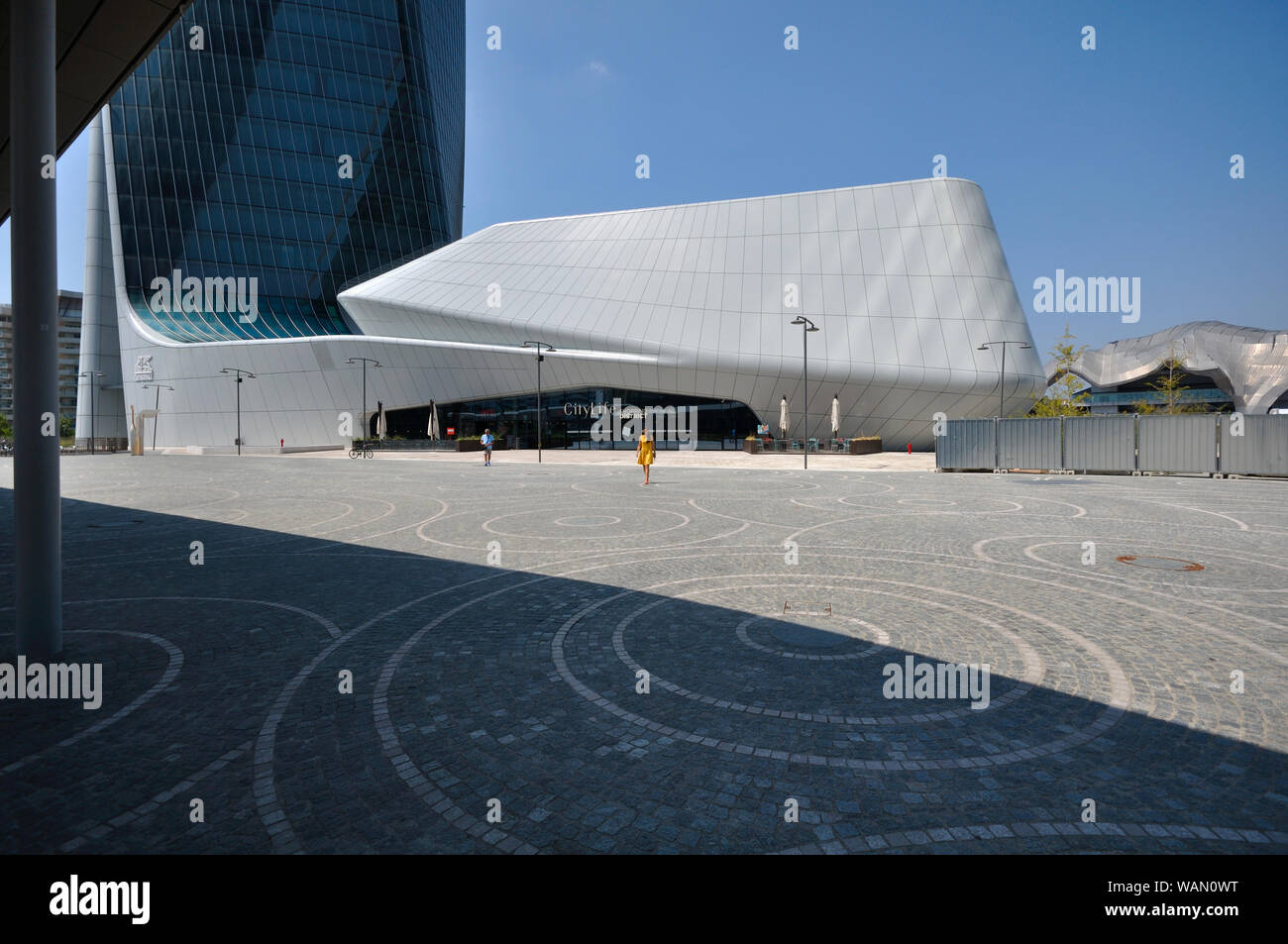 Italy, Lombardy, Milan, CityLife, Hadid Tower designed by Zaha Hadid Architect Stock Photo