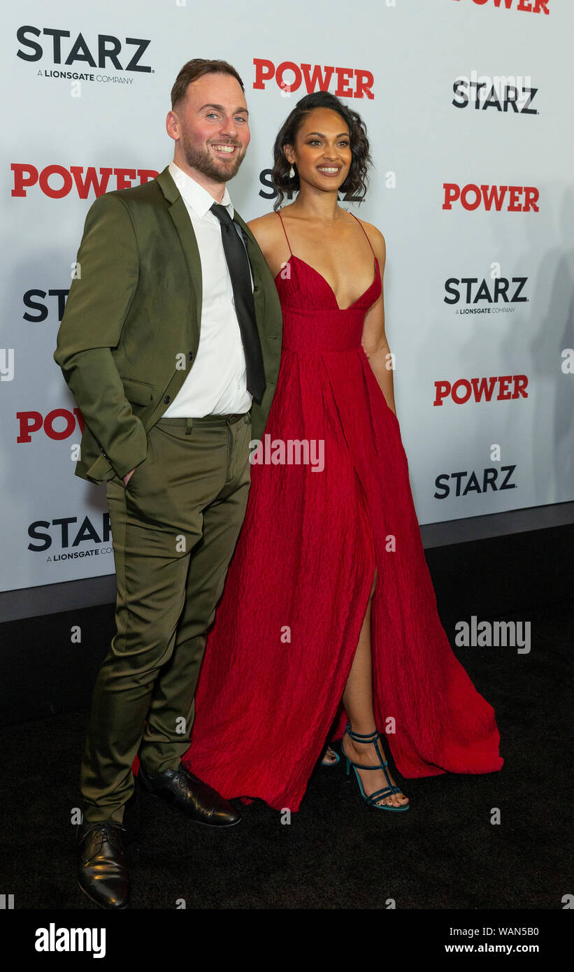Thomas Hefferon and Cynthia Addai-Robinson attend STARZ Power Season 6 premiere at Madison Square Garden (Photo by Lev Radin/Pacific Press) Stock Photo