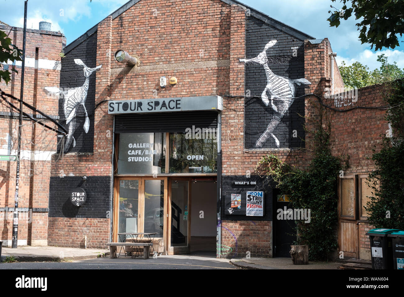 Stour Space cafe, art and community space in Fish Island, Hackney Wick, East London, UK Stock Photo