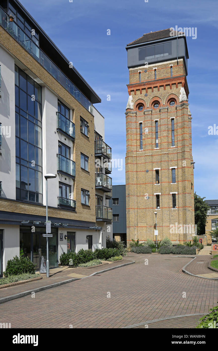 Converted Victorian Water Tower Holyoak Road Kennington London Featured In Episode 100 Of Channel 4 Tv S Grand Designs Program Stock Photo Alamy