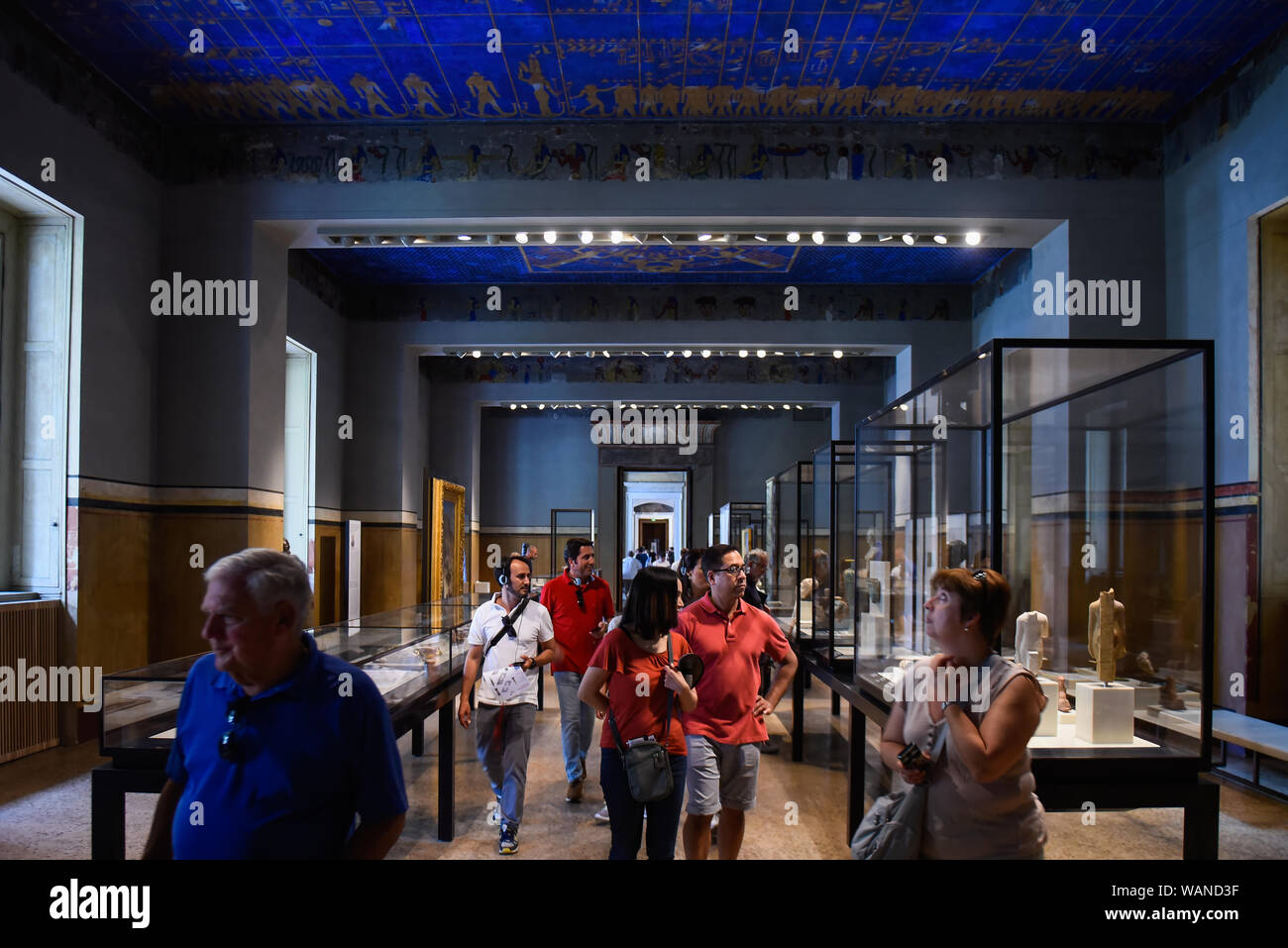 Berlin, Germany  20th Aug, 2019  Visitors admire an artefact