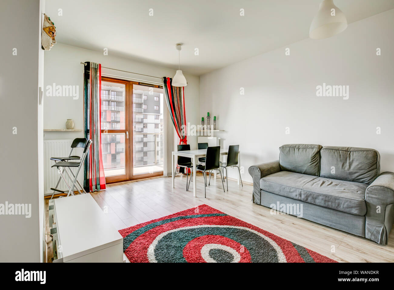 Cool New Furnished Apartment White Living Room With Black And Pdpeps Interior Chair Design Pdpepsorg