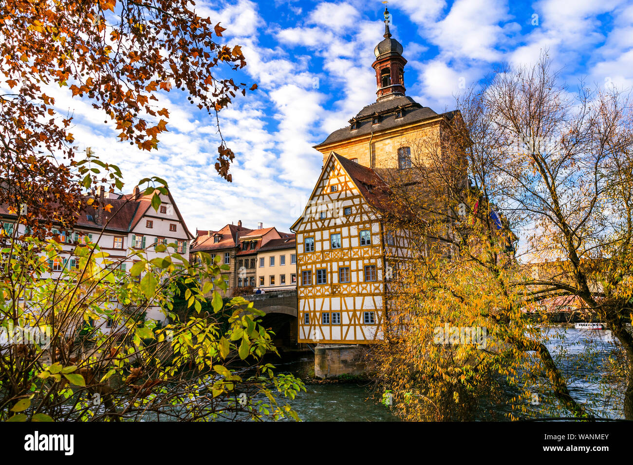 Beautiful Bamberg old town,Bavaria,Germany. Stock Photo