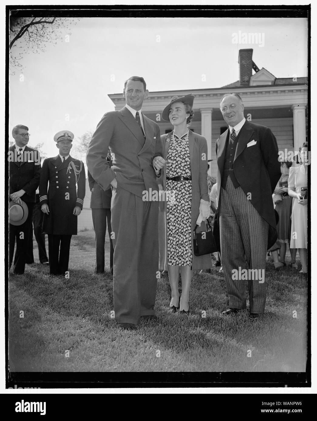 Crown Prince Frederik and Princess from Denmark, Mount Vernon, Va. Stock Photo