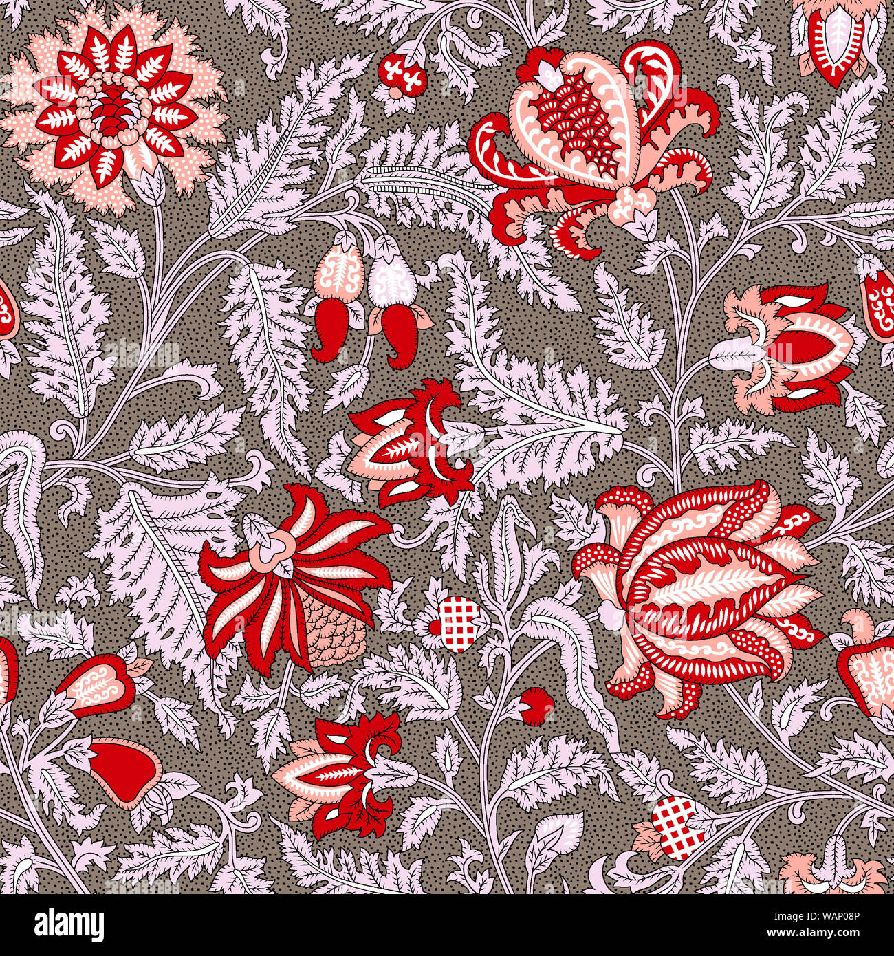 Floral Indian Seamless Pattern Textile Design Wallpaper