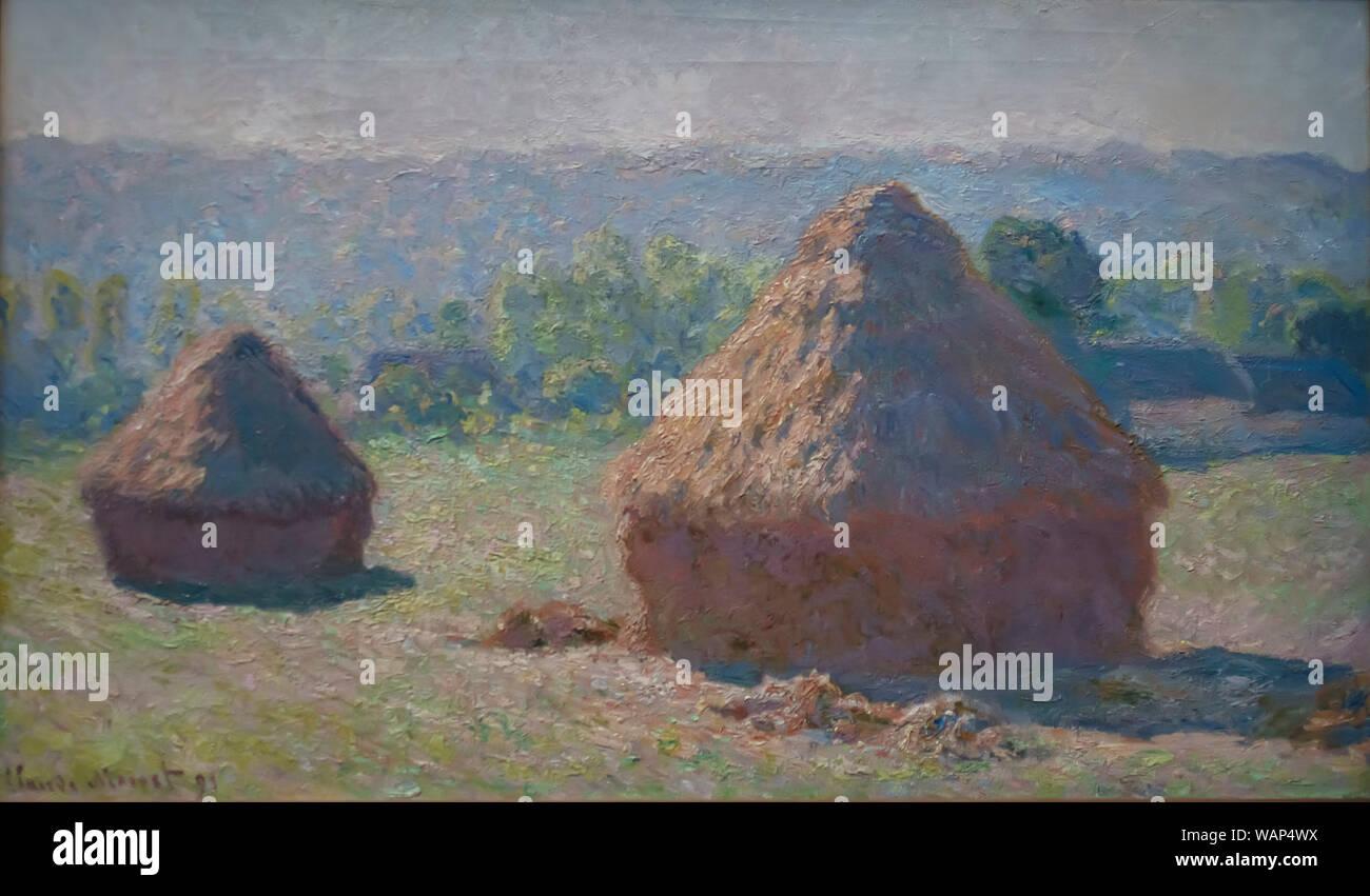 Haystacks by Claude Monet Stock Photo
