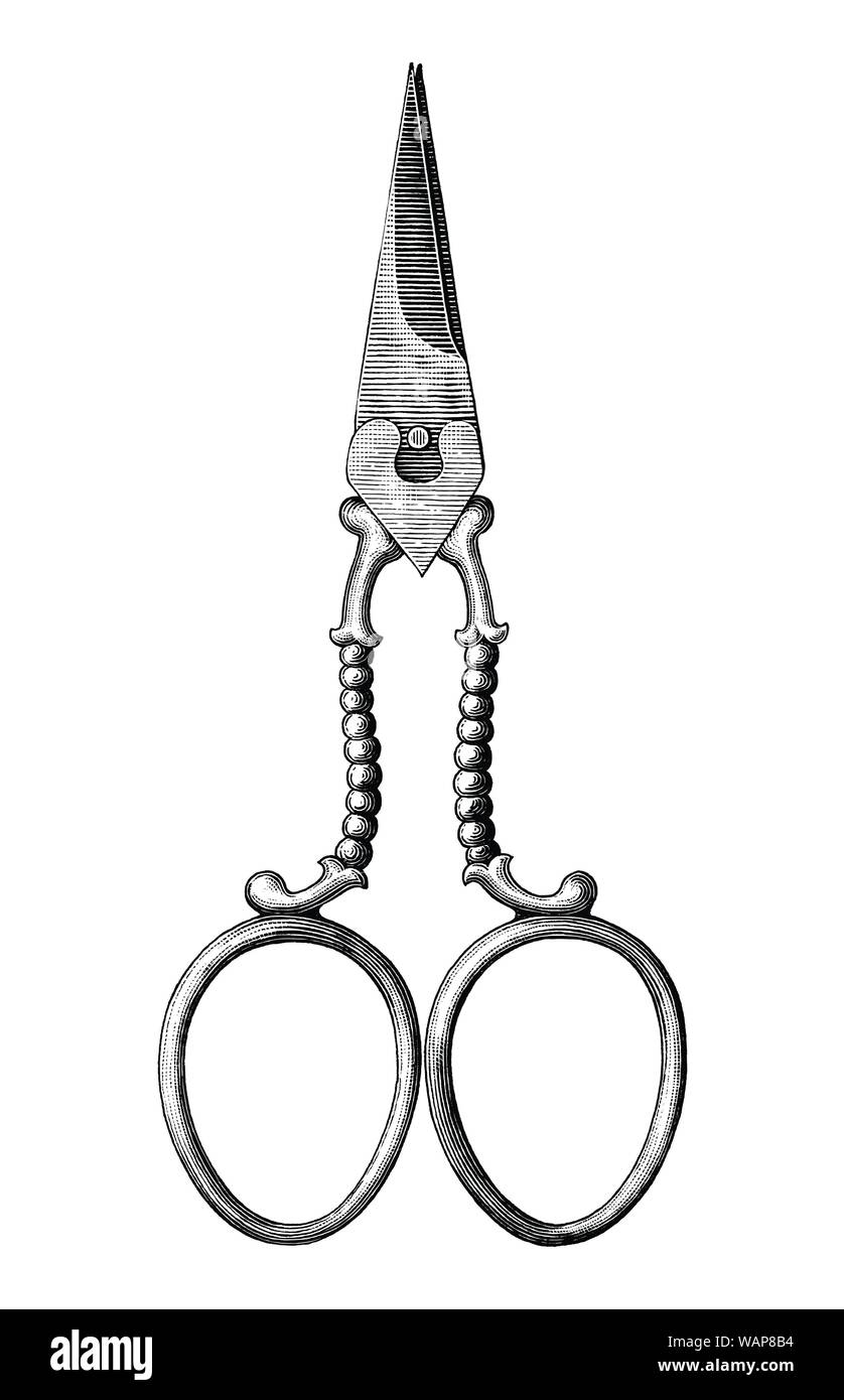 How To Draw Scissors Clip Art