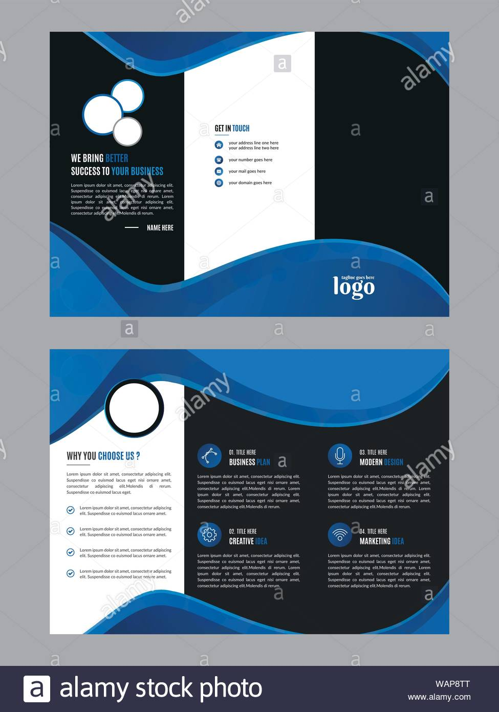 Trifold A4 Template Stock Photos & Trifold A4 Template Stock