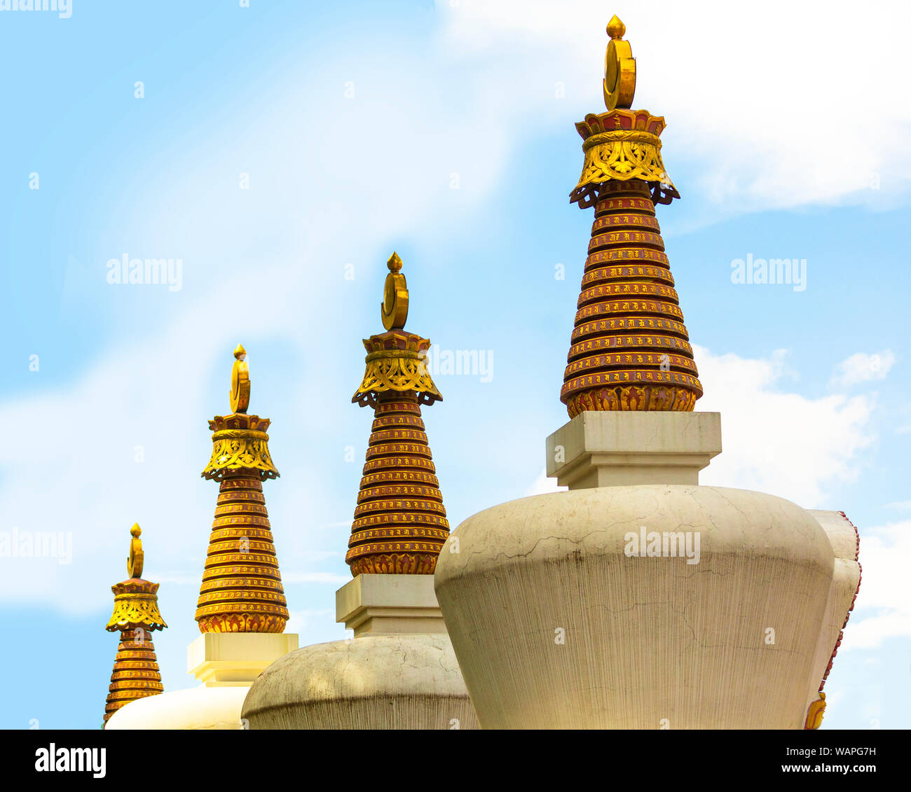 Swayambhunath Buddhist temple The temple consists of a stupa and a variety of shrines and premises. There is a Tibetan monastery, a museum and a libra Stock Photo