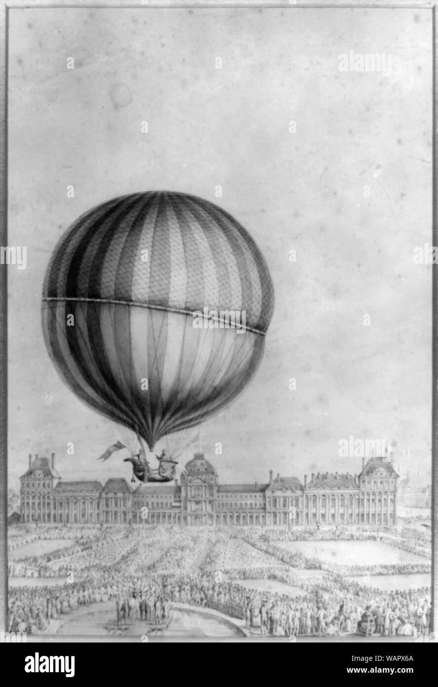 Departure Of Jacques Charles And Marie Noel Robert S Aerostatic