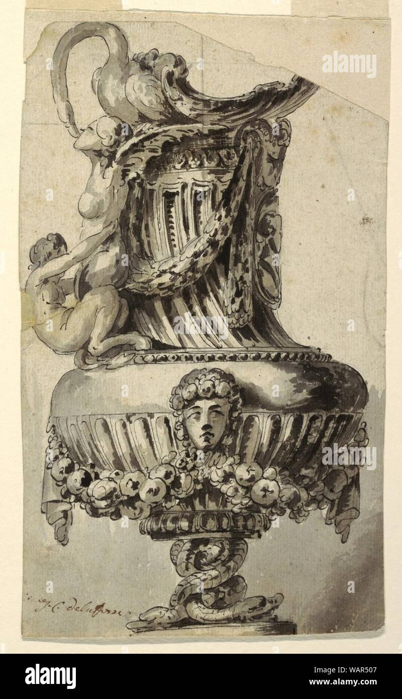 Drawing, Design for a Decorative Ewer, 1765 Stock Photo