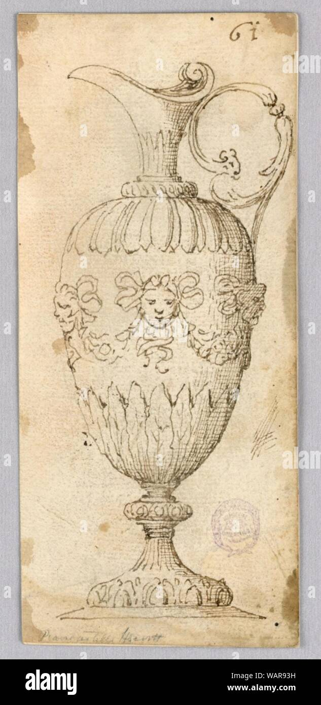 Drawing, Design for an Ewer, 16th–19th century Stock Photo