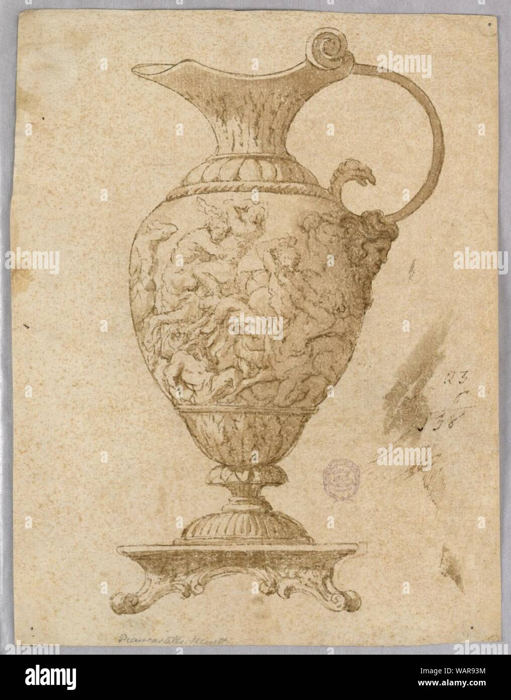 Drawing, Design for an Ewer, 18th–19th century Stock Photo