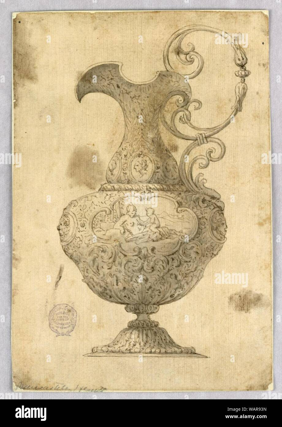 Drawing, Design for an Ewer, 17th–19th century Stock Photo