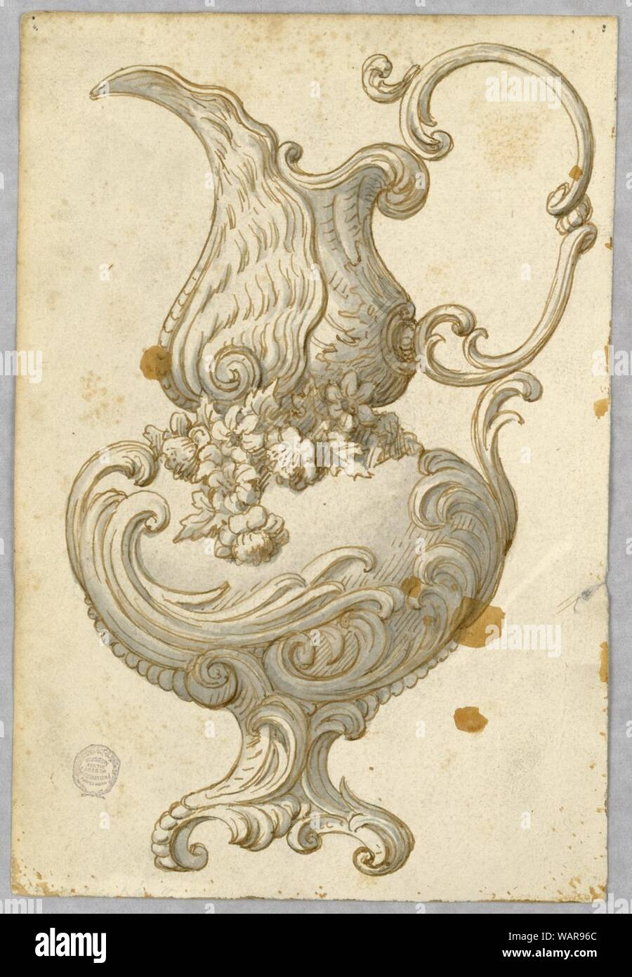 Drawing, Design for an Ewer, 1800–1900 Stock Photo