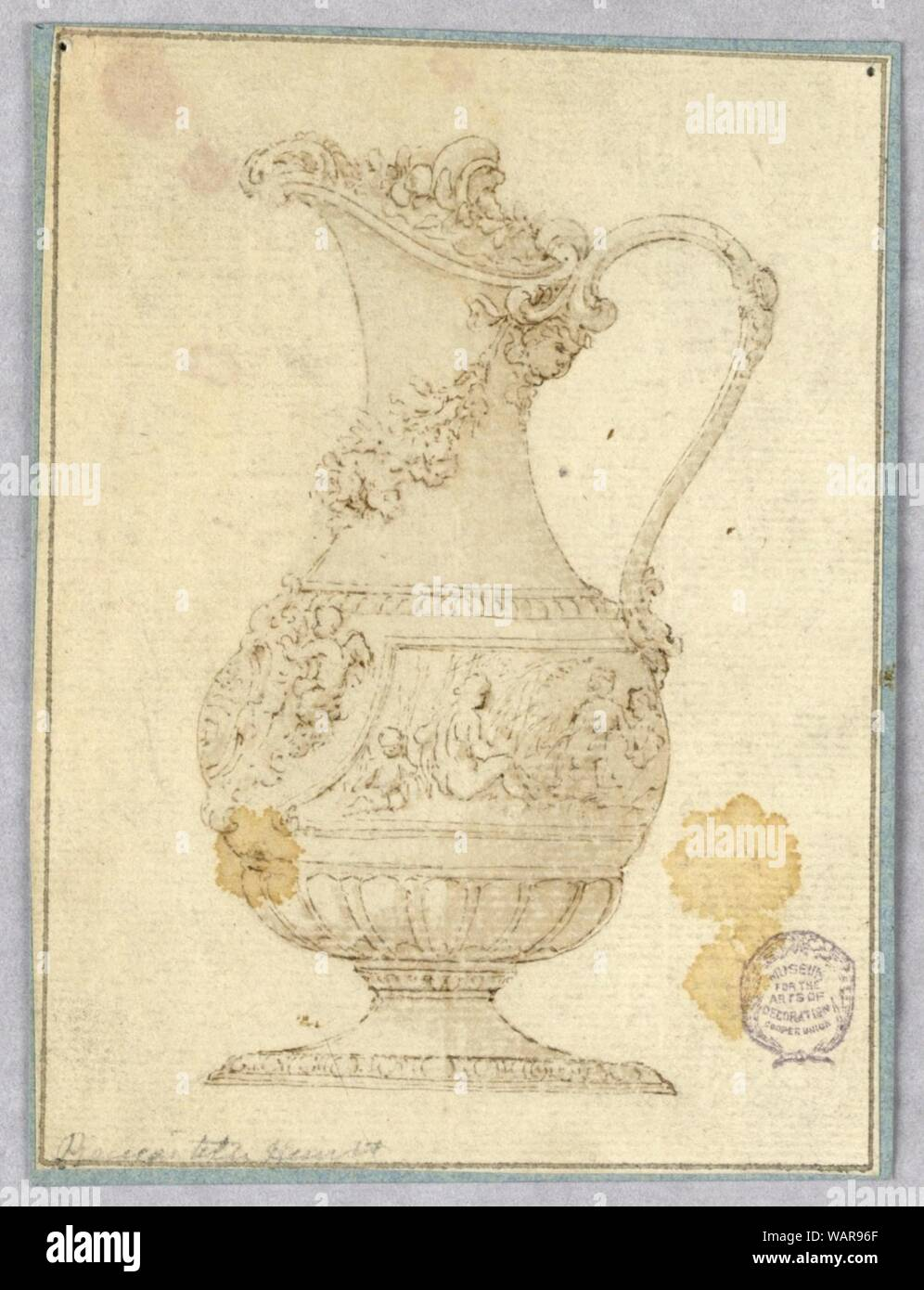 Drawing, Design for an Ewer, 1600–1900 Stock Photo