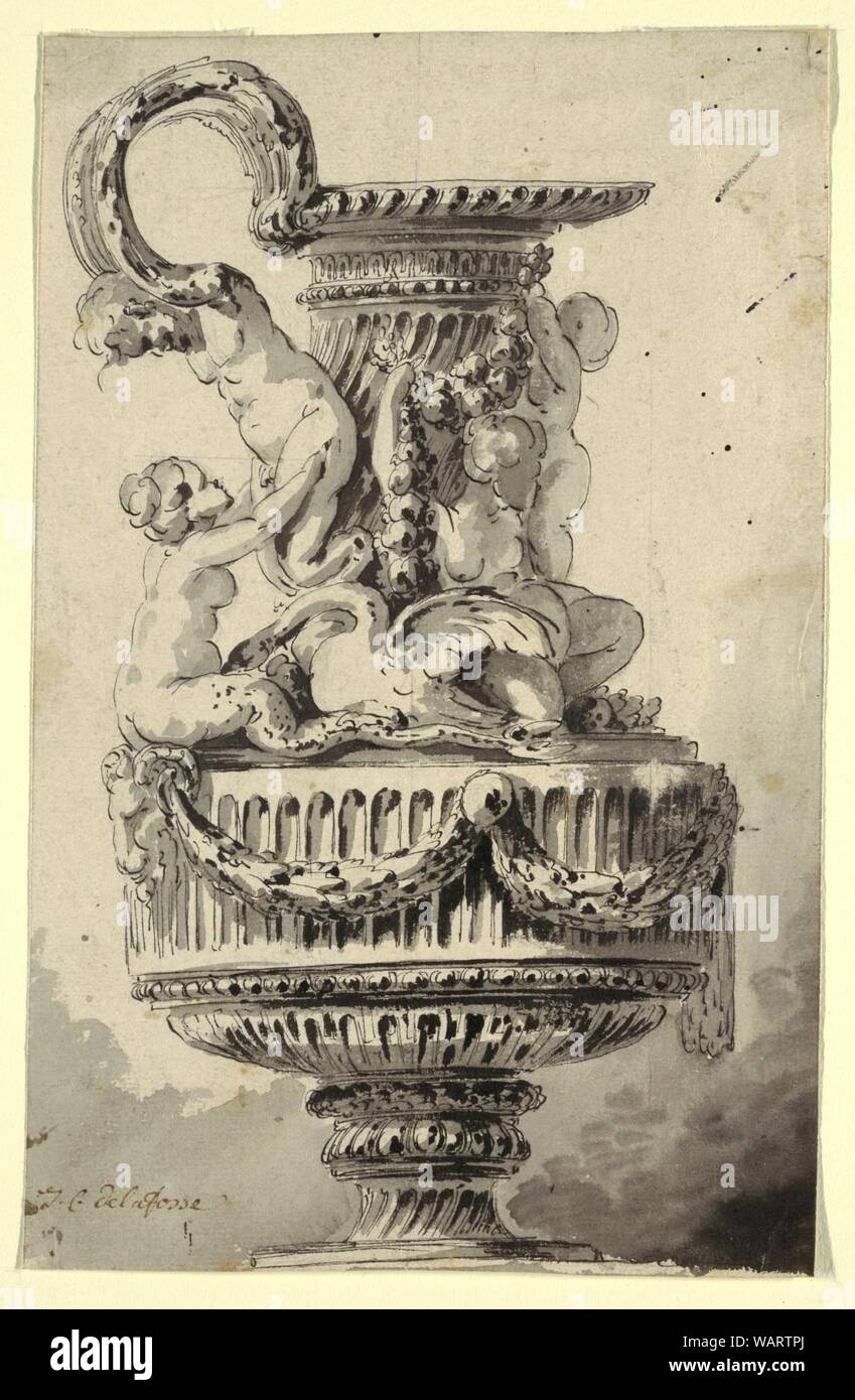 Drawing, Project for a Ewer, ca. 1765 Stock Photo