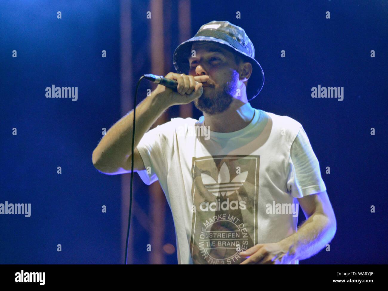 Noyz (Mario Đorđević), from Montenegrin hip-hop duo Who See Stock Photo