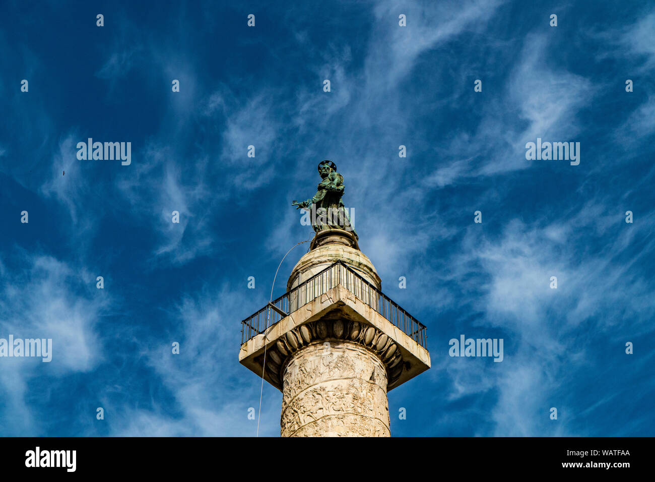 Trajan's Column (Colonna Traiana) in Rome, Italy. Stock Photo