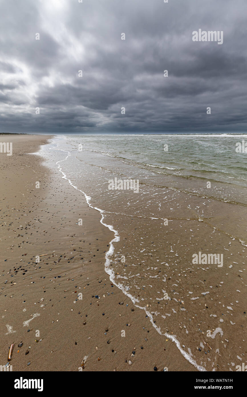 Low tide at the beach on Juist, East Frisian Islands, Germany. Stock Photo