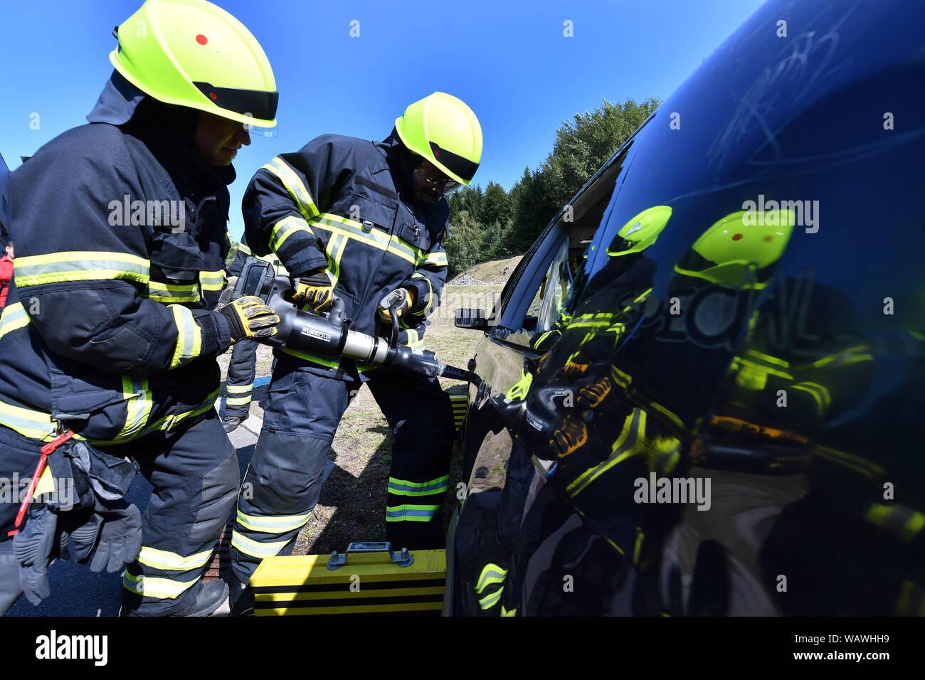 Fire Brigade Uniform Stock Photos & Fire Brigade Uniform