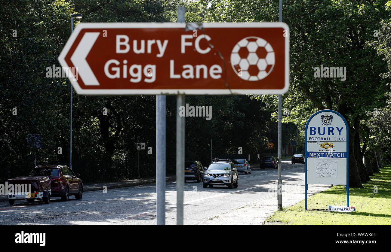 bury fc Gigg lane metal Street Sign 2 Sizes Available football ground