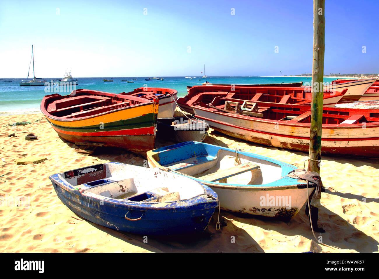The main beach in Santa Maria, Sal Island, Cape Verde Stock Photo