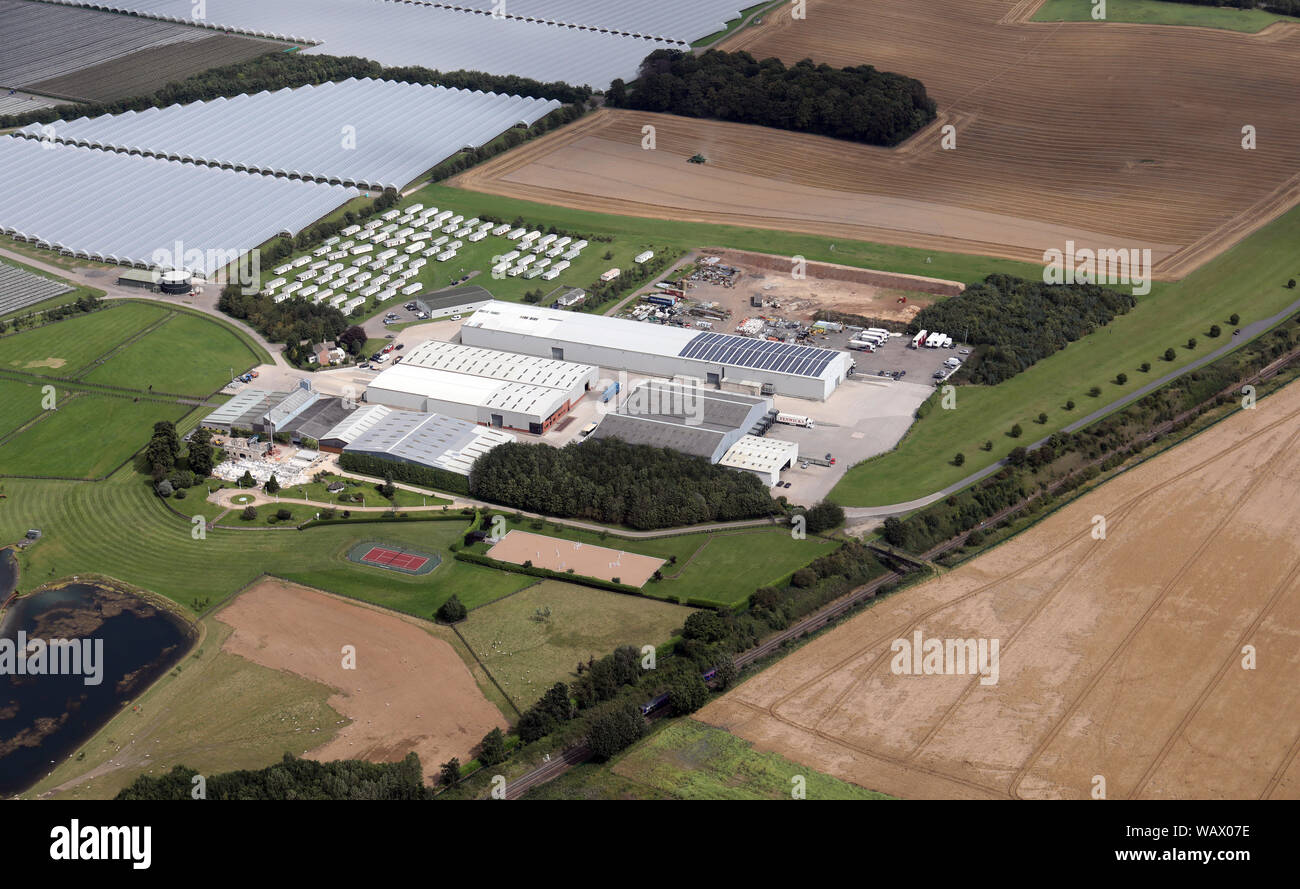 aerial view of Makins, Sturton Grange, Garforth, Leeds LS25 4DZ Stock Photo