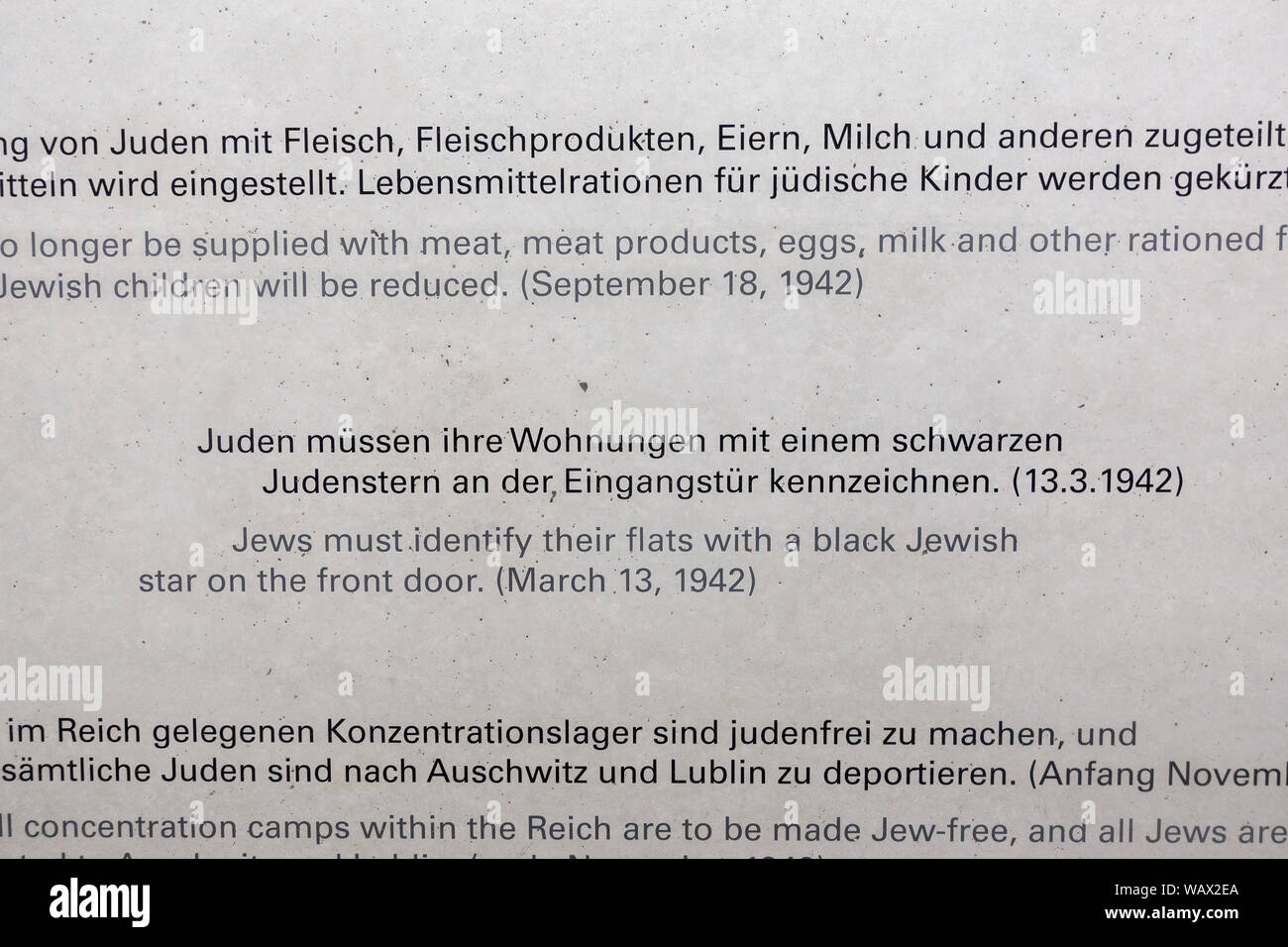 Nazi Germany Jewish Star Stock Photos & Nazi Germany Jewish