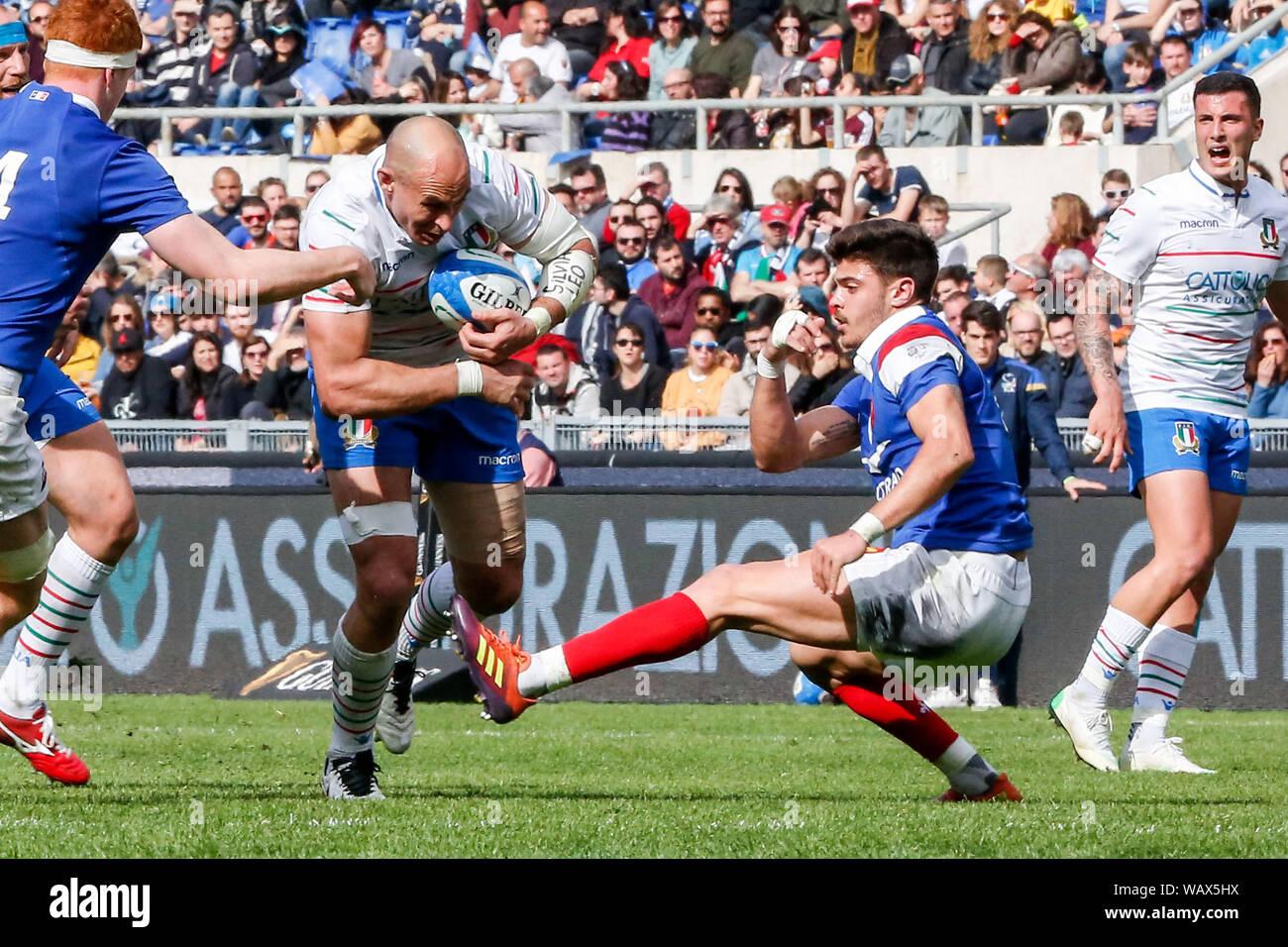 Sergio Parisse during ITALIA vs FRANCIA - 6 Nazioni 2019, Roma, Italy, 16  Mar 2019, Rugby Nazionale Italiana di Rugby Stock Photo - Alamy
