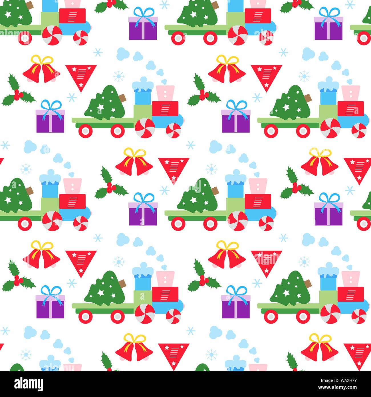 Christmas Fabric For 2020 Happy new year 2020, Merry Christmas vector seamless pattern with