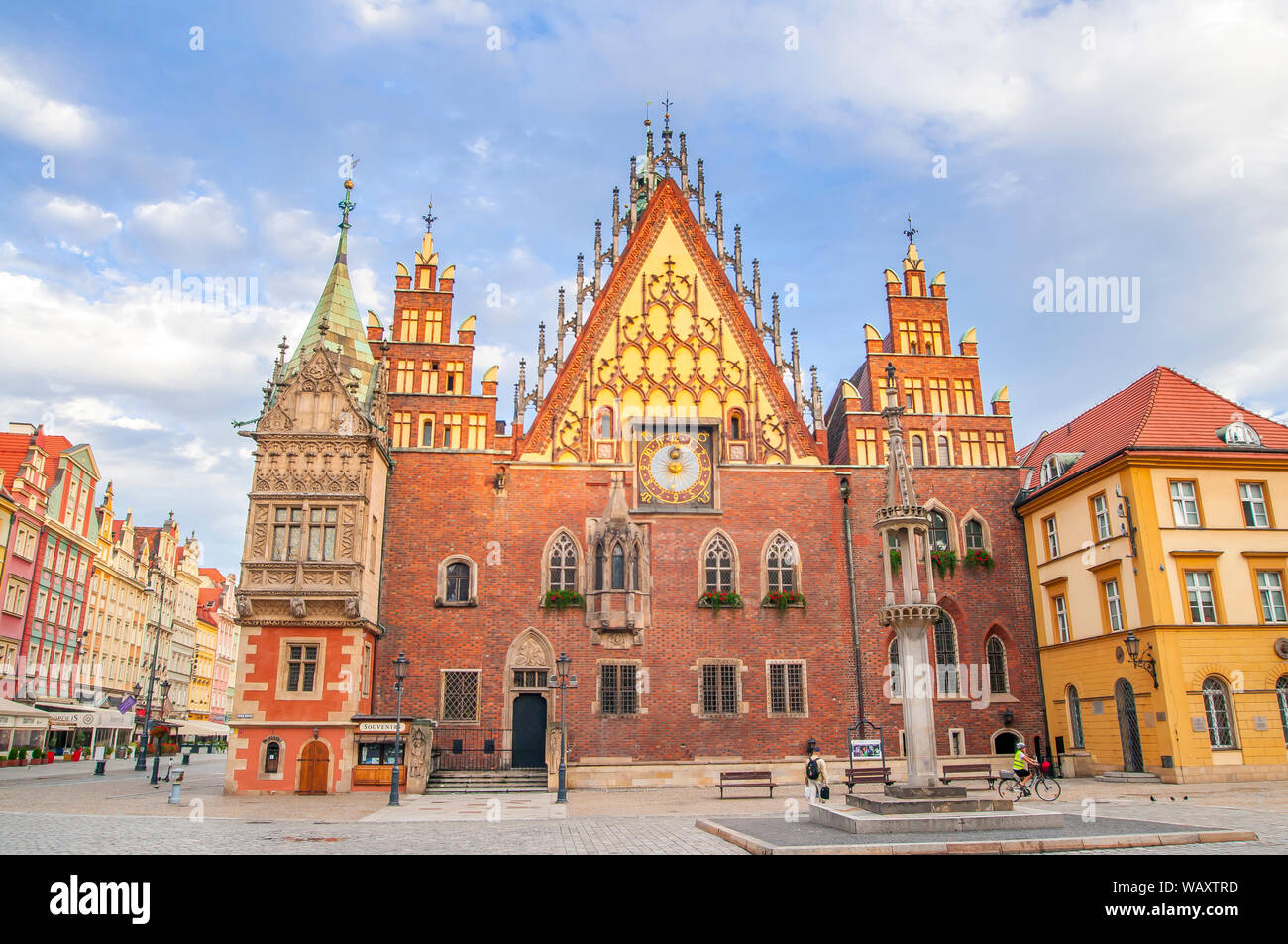 Wroclaw, Poland, October 2017. View of main square and city hall. Stock Photo