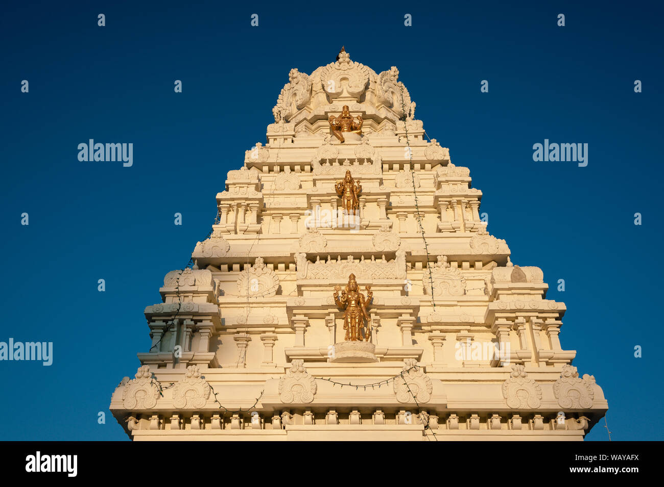 Malibu Hindu Templed photographed during sunset time in Calabas, CA Stock Photo